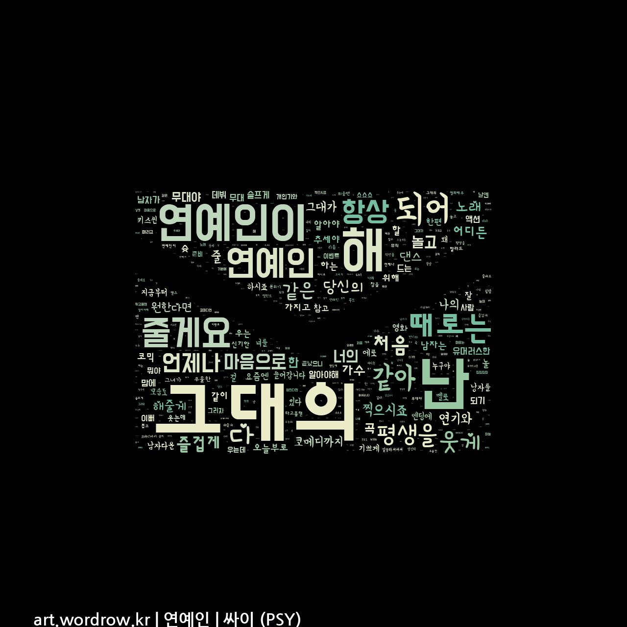 워드 클라우드: 연예인 [싸이 (PSY)]-17